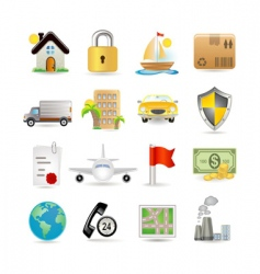 insurance icons vector image