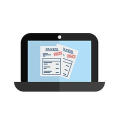 Laptop technology vector