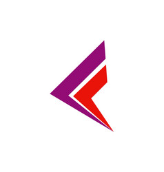 Letter f business company logo vector