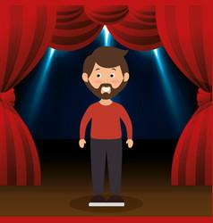 Man avatar in theater vector