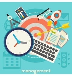 Management Concept Banner vector image vector image
