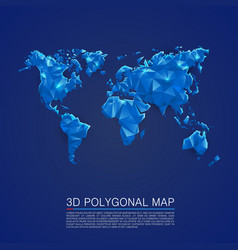 map 3d polygon art cover vector image vector image