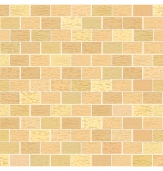 Masonry of yellow bricks different shades vector