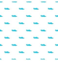 Ocean or sea wave pattern cartoon style vector