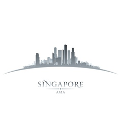 Singapore Asia city skyline silhouette vector image