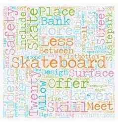 Skateboards skills and riders text background vector