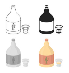 Tequila icon in cartoon style isolated on white vector