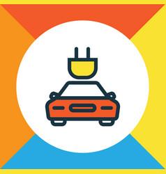 Tesla colorful outline symbol premium quality vector