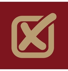 The check icon checkmark and checkbox no voting vector