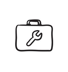 Toolbox sketch icon vector