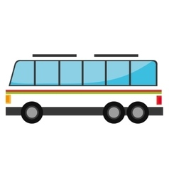 White bus with red and green stripes vector