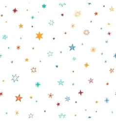 Seamless pattern with handdrawn stars vector image