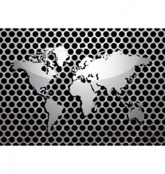 Metal grill world vector