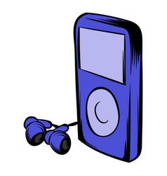 Media player icon cartoon vector