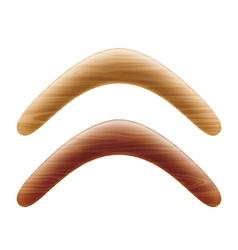 Wooden boomerang vector