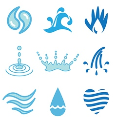 Logo icons water vector