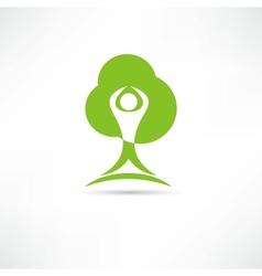 Eco man icon vector
