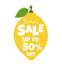 Summer sale poster with lemon vector