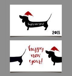 2018 greeting card vector image vector image