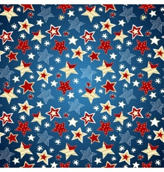 Sketchy doodle stars seamless repeat pattern vector