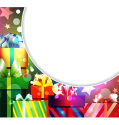 Pile of gifts vector