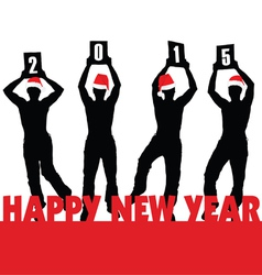 Happy new 2015 year vector