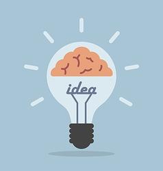 Light bulb with brain Idea concept vector image