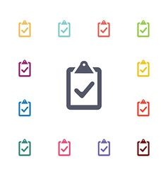 vote flat icons set vector image