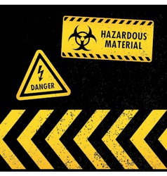 Grunge hazard warning vector