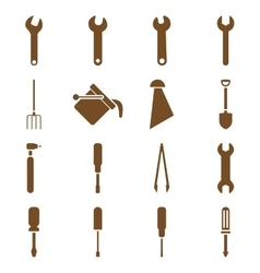 Instruments and tools icon set vector