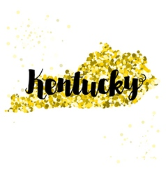 Golden glitter of the state of kentucky vector