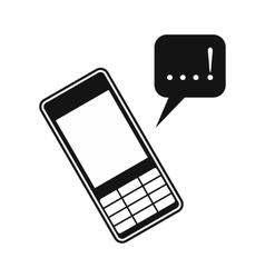 Mobile chatting icon vector