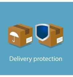 Delivery package shipping protection insurance vector