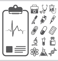 Medical and healthcare sign symbol icon set vector