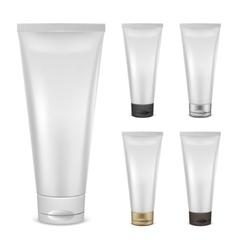 Set of cream tube mockups vector