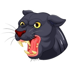 Black panther head mascot vector