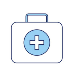 Blue medical bag cartoon vector