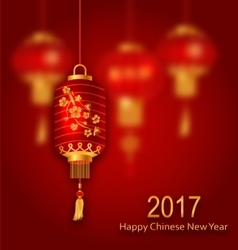 Blurred Background for Chinese New Year 2017 vector image