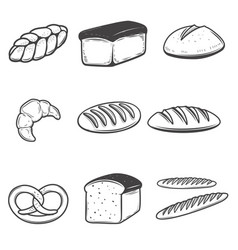 Bread icons isolated on white background design vector