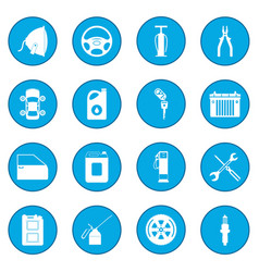 car service maintenance icon blue vector image