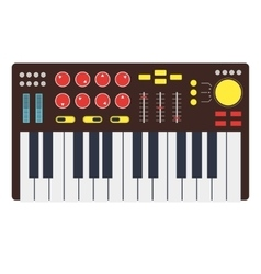 Cartoon Synth or Music Keyboard vector image vector image