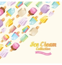 Colorful ice cream collection vector image