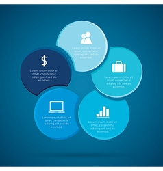 Cycles Infographic Diagram cyclic business vector image vector image