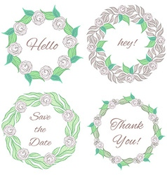 Decorative floral frames collection vector image