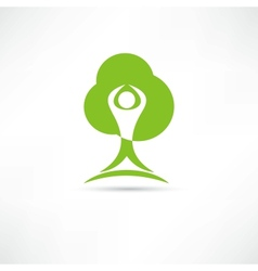 Eco man icon vector image
