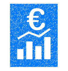 Euro sale report grunge icon vector