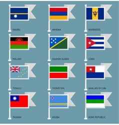 Flags set four-13 vector