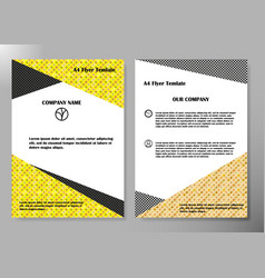 Flyer cover business brochure design vector