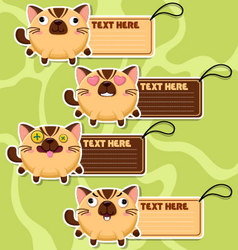 Four cute cartoon Cats stickers vector image vector image