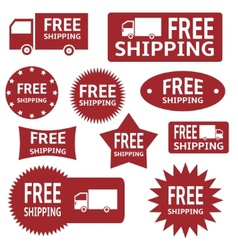 Free shipping labels vector